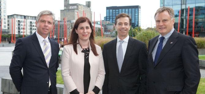 Ian Hyland, Business & Finance; Sonia Flynn, Facebook Ireland; Bill Archer, eircom Business Solutions; John Hartnett, ITLG